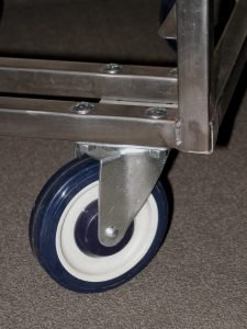 Sturdy, 5-inch diameter wheels