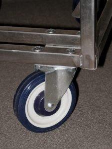 Sturdy, 5-inch diameter wheels