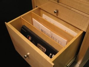 Document Drawer with Removable Partitions